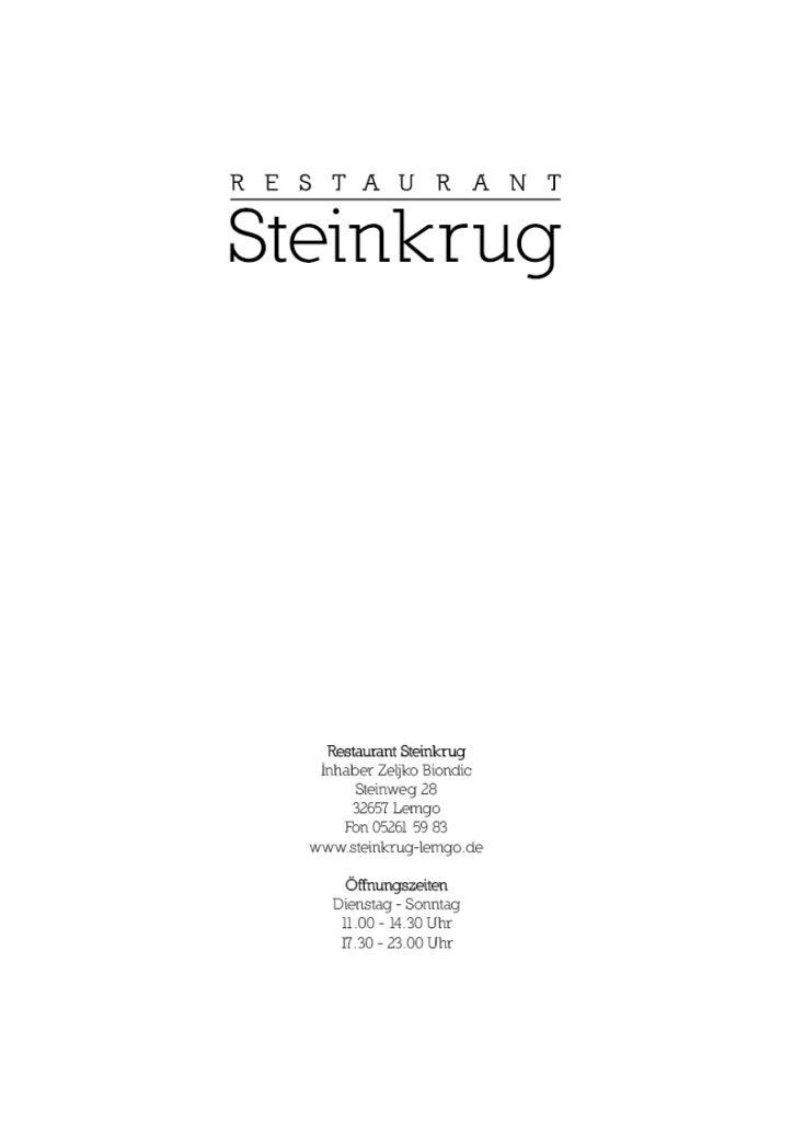 Titelblatt E-Paper Speisekarte